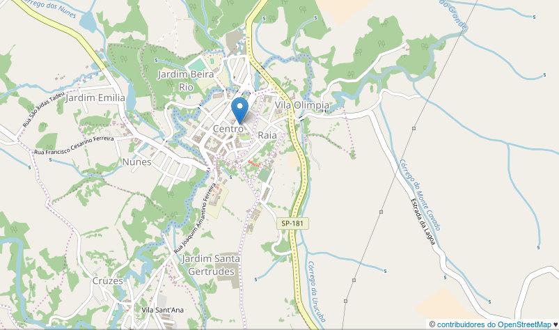 foto: mapa de Ribeirão Grande - SP