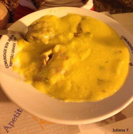 Prato típico Servido na Festa do Milho