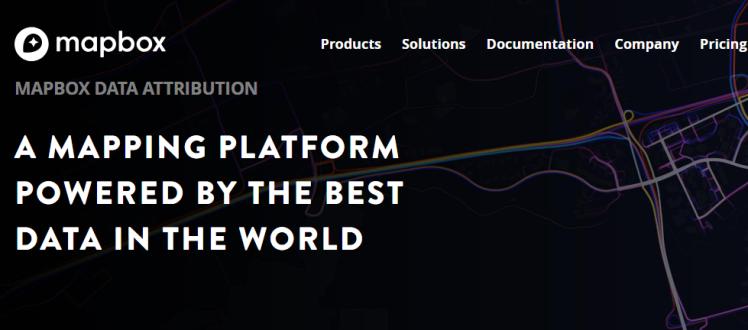 Uma plataforma de mapeamento alimentada com os melhores dados do mundo