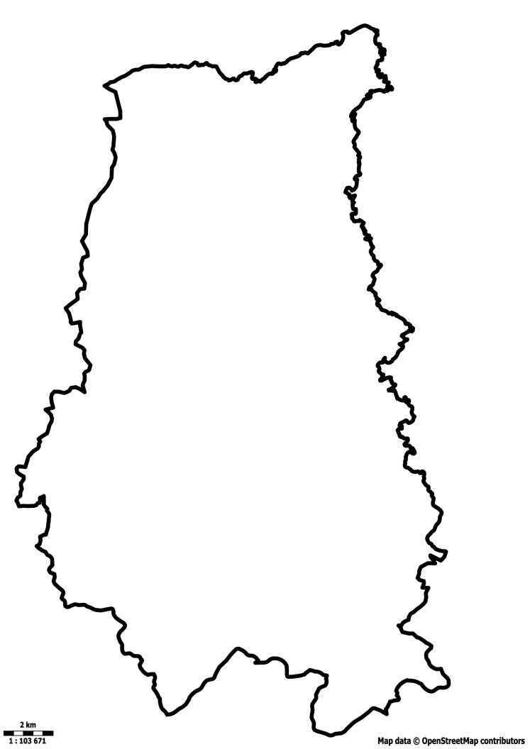 Mapa de Ribeirão Grande para Colorir